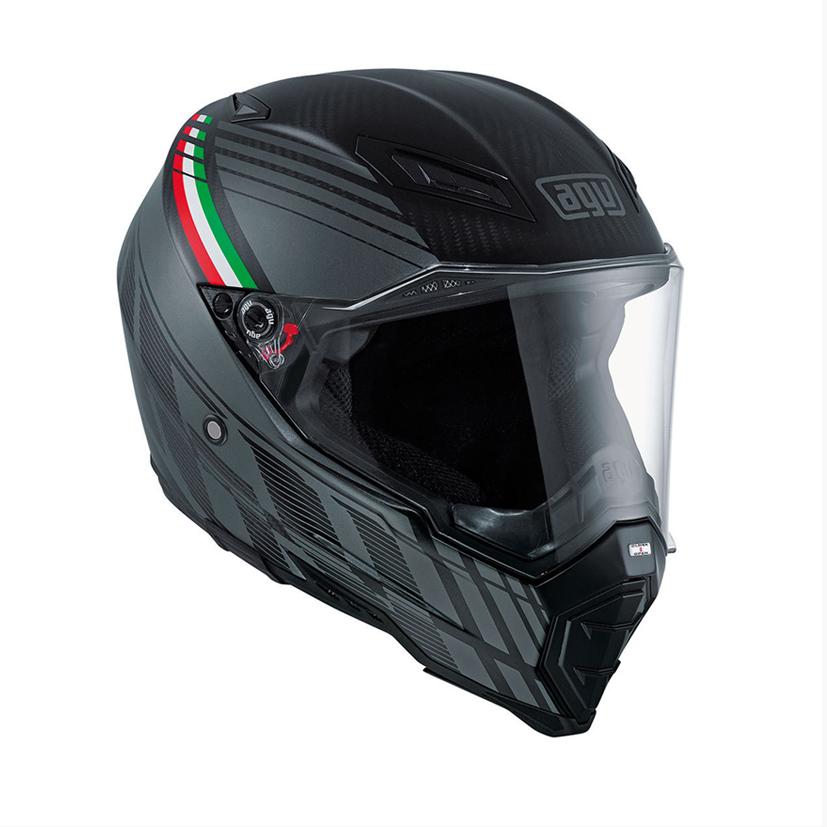 AGV AX-8 Evo Naked Carbon Black Forest Helmet - LSH Racing