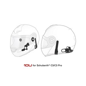 Sena 10U Motorcycle Bluetooth Communication System with Handle Bar Remote for Schuberth C3/C3 Pro