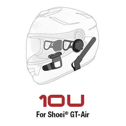 Sena 10U Motorcycle Bluetooth Communication System with Handle Bar Remote for Shoei GT-Air