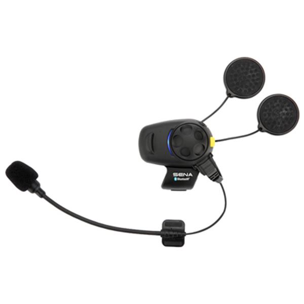 Sena SMH5-FM Bluetooth Headset & Intercom with FM Tuner with Universal Microphone Kit Dual Pack