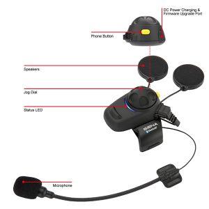 Sena SMH5-FM Bluetooth Headset & Intercom with FM Tuner with Universal Microphone Kit
