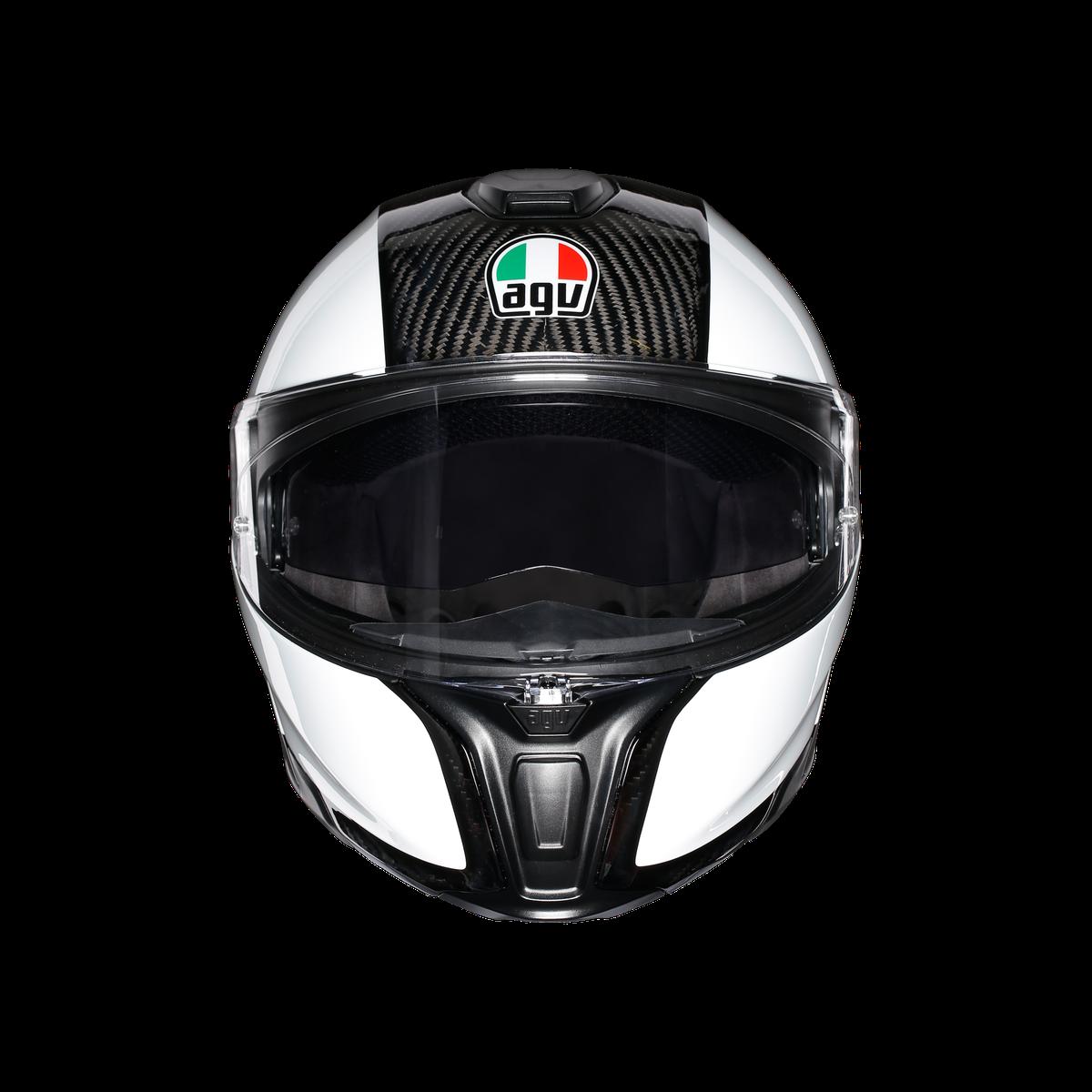 Agv Sportmodular Carbon White Helmet Lsh Racing World